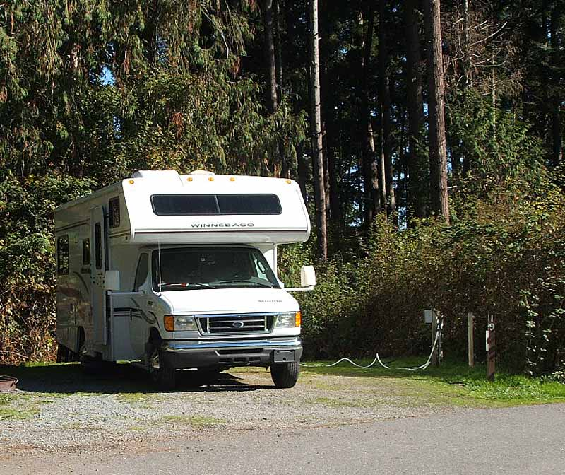 Photographs Of Our Camping Spots As We Travelled In Our