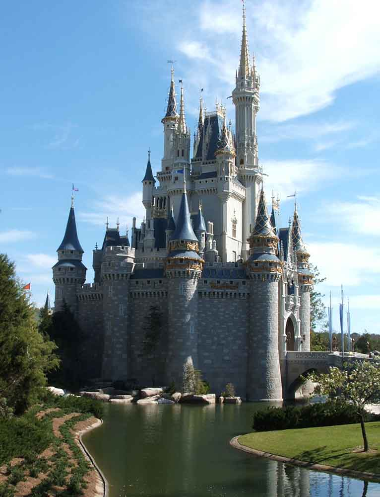 lawn next to Cinderella's castle and the moat | WDWMAGIC ...