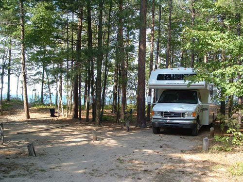 Pictured Rocks National Lakes 12 Mile Beach Cg Mi August 04